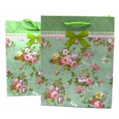 Подарочный пакет Нежность, цветочки