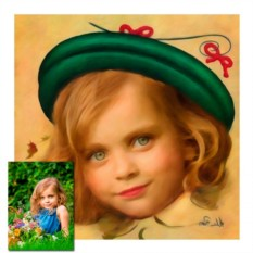 Детский пин-ап портрет