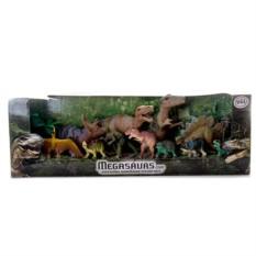 Игровой набор из 12 динозавров Megasaurs (HGL)