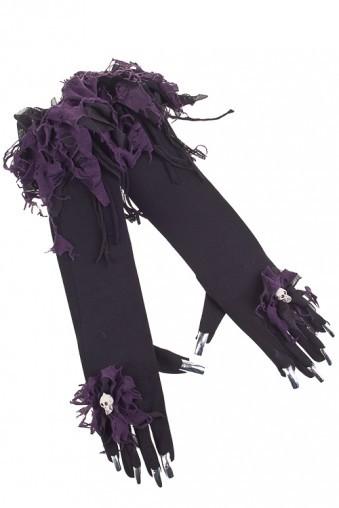 Маскарадные перчатки для взрослых Зловещий мертвец