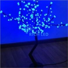 Синее светодиодное дерево Сакура 1,1х0,75 м