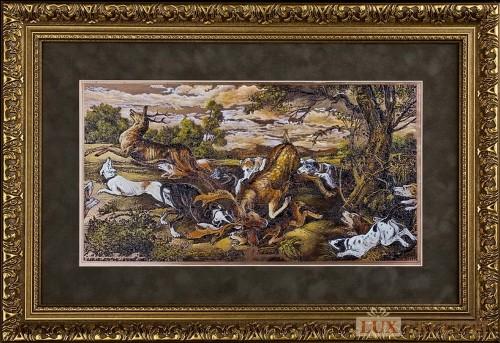 Офорт Охота на оленя