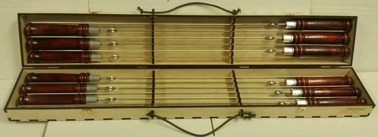 Набор профессиональных шампуров 620х13х2,5 мм. 12 шт.