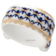 Фарфоровое кольцо для салфеток Кобальтовая сетка