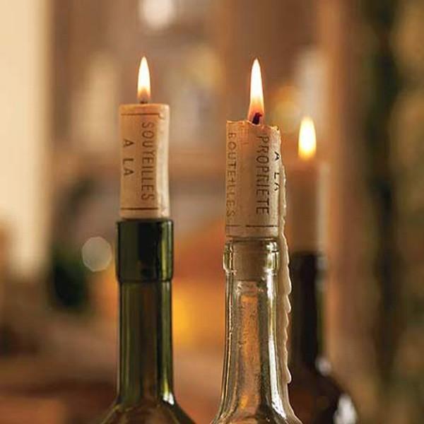 Свеча-пробка от вина (4 шт)