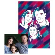 Живописный рисунок для семьи своими руками