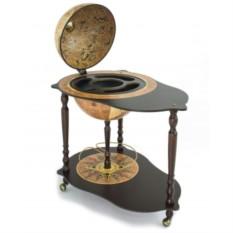 Напольный глобус-бар со столиком и картой мира Caravaggio