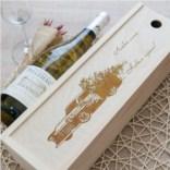 Коробка для вина с гравировкой Бьюик