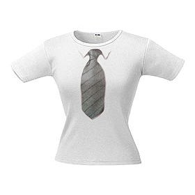 Футболка женская с 3D галстуком Line 10