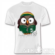Мужская футболка с совой Боб от Goofi