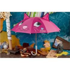 Детский малиновый зонт Eclat Кошка-кокетка с ушками