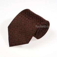 Демисезонный коричневый галстук Luciano Soprani