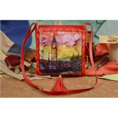 Женская сумка-планшет с принтом Акварельный Лондон