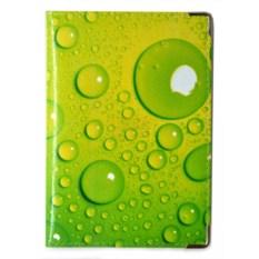 Кожаная обложка на паспорт Bubbles