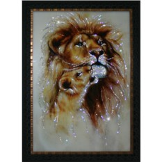 Картина с кристаллами Swarowski Король Лев