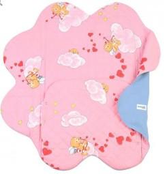 Детский конверт Light Denim Style Pink c прорезями