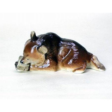 Анималистическая скульптура «Медвежонок с сотами»