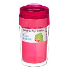 Термокружка Кофе-с-собой SISITEMA pink