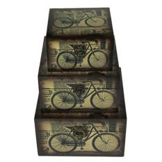 Набор из 2 сундучков Ретро велосипед