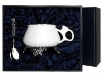 Чайный серебряный набор: чашка Билибина + ложка Подарочная