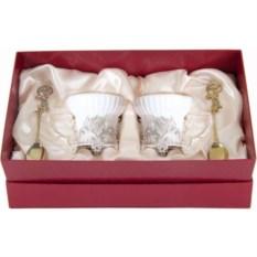 Фарфоровая чайная пара в картонном футляре Герб