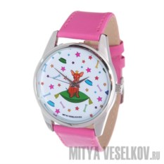 Часы Mitya Veselkov Королева песиков (цвет: фуксия)