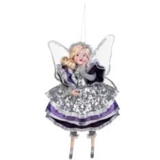 Украшение для интерьера Мечтающая фея в серебристом наряде