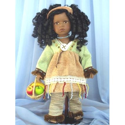Кукла с корзинкой