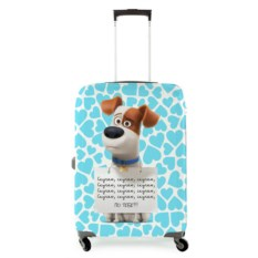 Чехол на чемодан Собака с табличкой: яскучаю!