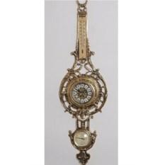 Настенные часы из бронзы с гидрометром