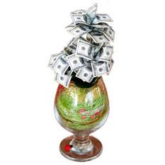 Денежное дерево «Бокал 100$»