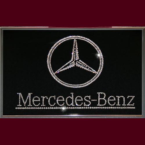 Картина с кристаллами Swarovski Mercedes