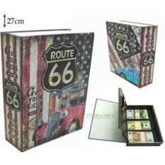 Книга сейф с кодовым замком Route66