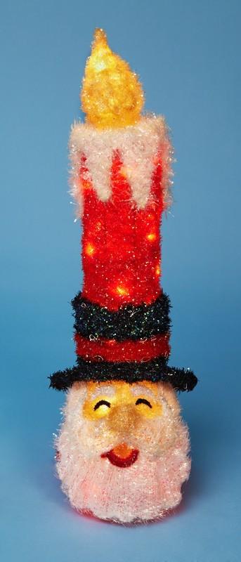Свеча в виде Санты с прозрачными огнями, 80 см