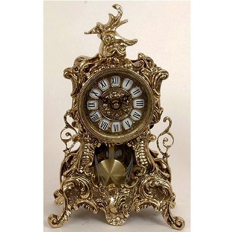 Часы бронзовые каминные с маятником Вавилон