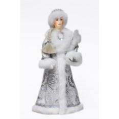 Фигурка из ткани Снегурочка с зайцем