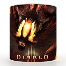 Кружка с 3D печатью Diablo