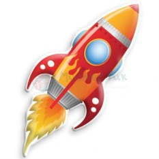 Ночник Ракета Big Red Rocket