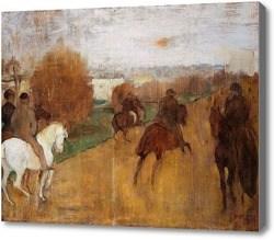 Репродукция картины На лошадях