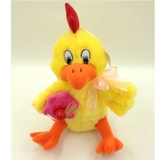 Мягая озвученная игрушка Петушок Яшка
