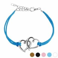 Синий браслет Два сердца