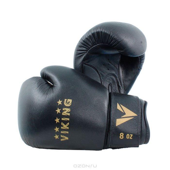 Боксерские перчатки Viking, 8 унций, черные