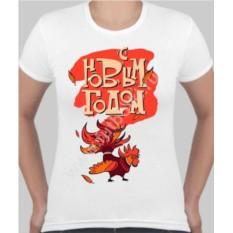 Женская футболка Огненный петух