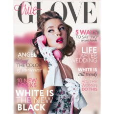 Белые перчатки True Glove S
