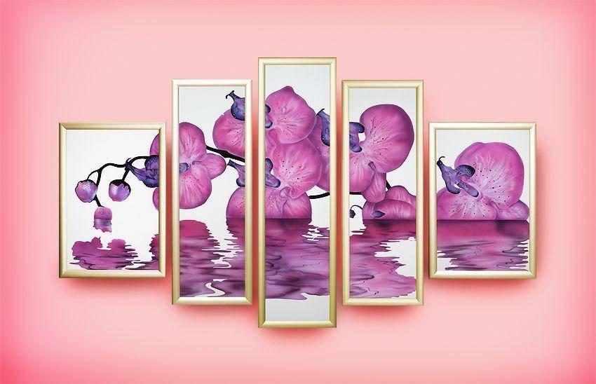 Картина Swarovski Сиреневая орхидея