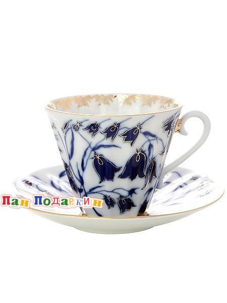 Чайная чашка с блюдцем Колокольчики