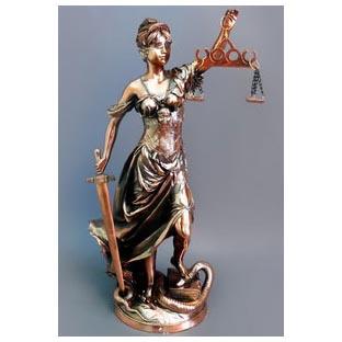 Бронзовая статуэтка «Фемида»