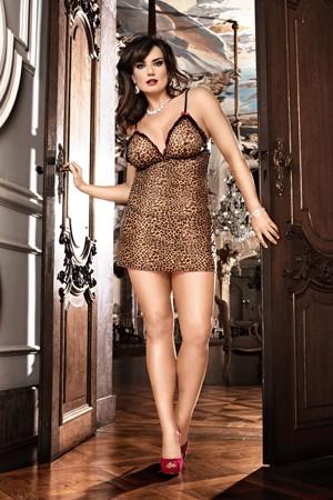 Мини-платье Animal D (52-54), леопард