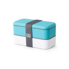 Бело-голубой ланч-бокс MB Original