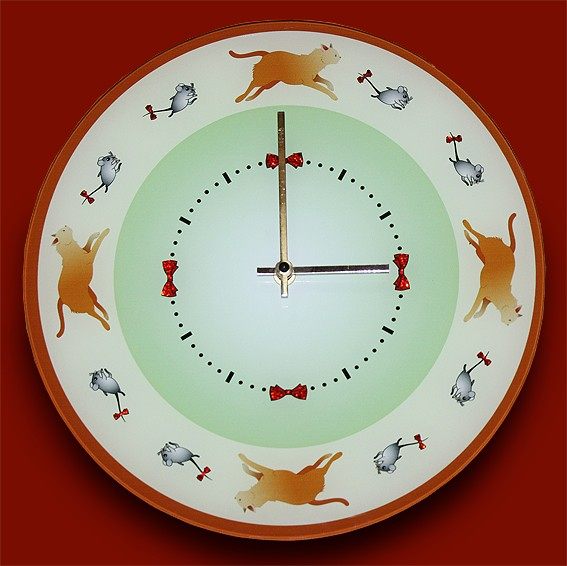 Часы с кристаллами Swarovski Мышиная охота